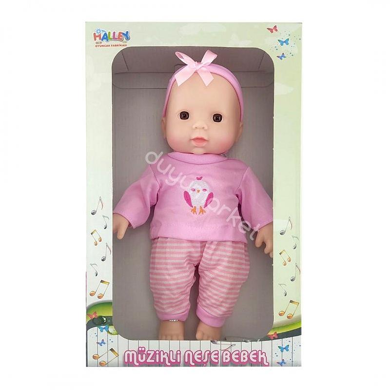 Müzikli Tulumlu Neşe Bebek 30 Cm (Pembe)