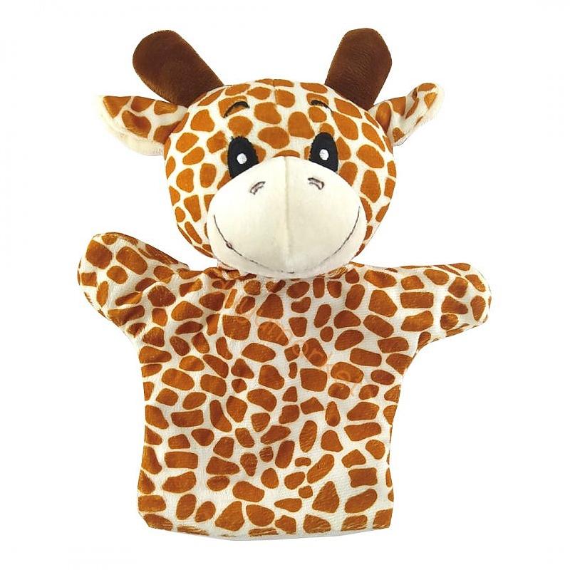 Zürafa El Kuklası - Peluş - 25 Cm