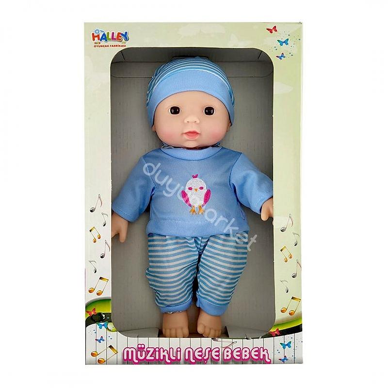 Müzikli Tulumlu Neşe Bebek 30 Cm (Mavi)