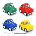 Mini Çek Bırak Mat Renk Araba - Volkswagen (5 Cm)