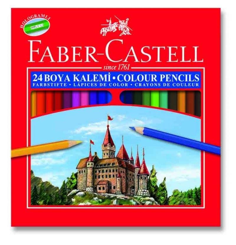 Faber Castell Redline 24'lü Uzun Kuru Boya Kalemi