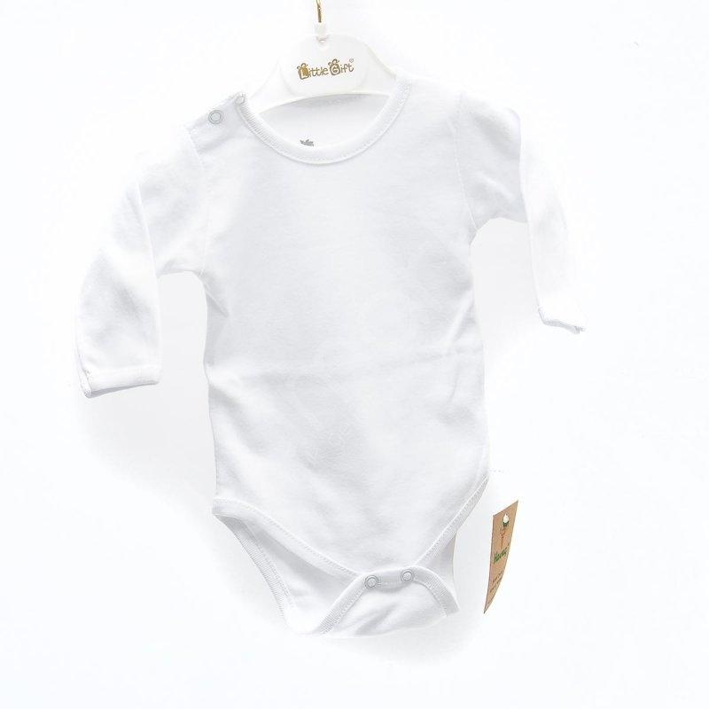 Havuç Kollu Bebek Atlet - 3-6 Ay - Beyaz