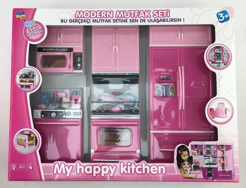 Modern Mutfak Setim 3'lü Pembe 3835-4