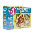4'lü Hayvanlar Süper Renkli Puzzle