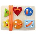 Montessori İp Geçirme Geometrik Şekiller