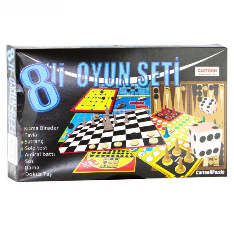 Yılbaşı Kutu Oyunu 8 Li Oyun Seti