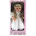 Leydi Bebek (Beyaz Elbiseli Sarı Saçlı) - 55 Cm