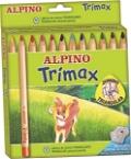 Alpino Trimax Jumbo Üçgen 12'li Kuru Boya