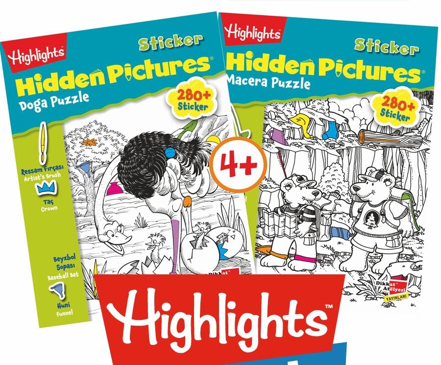 Sticker Hidden Pictures 2'li Set