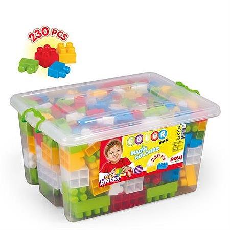 Dolu Sandıkta Büyük Renkli Bloklar 230 Parça