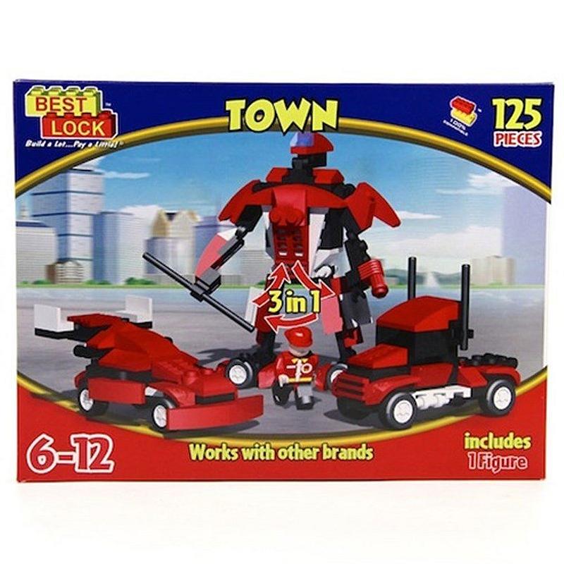 Robot 3 İn 1 Yap - Boz Bloklar - 126 Parça (14309)
