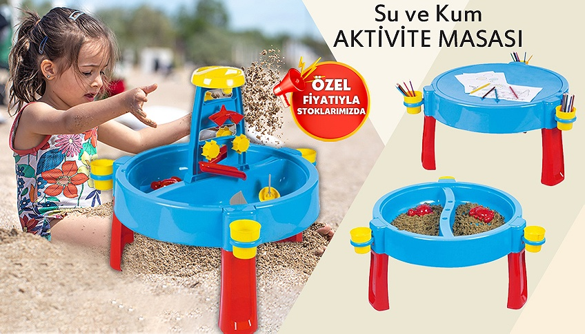 Su ve kum aktivite masası